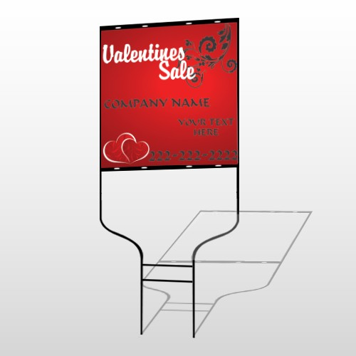 Valentines Sale 09 Round Rod Sign