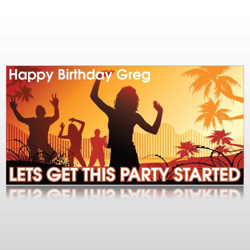 Summer Party Birthday Banner