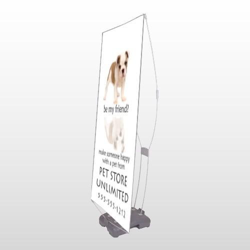Pet Store 26 Exterior Flex Banner Stand