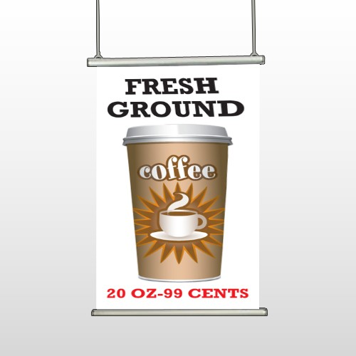 Coffee 119 Hanging Banner