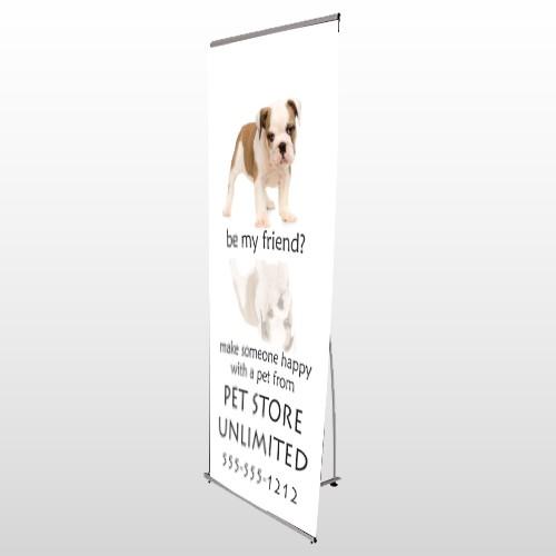 Pet Store 26 Flex Banner Stand