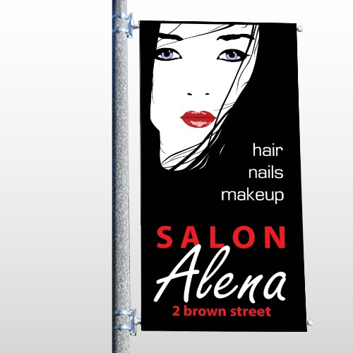 Salon 125 Pole Banner