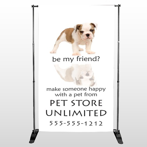 Pet Store 26 Pocket Banner Stand