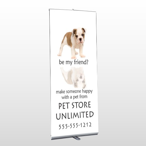 Petstore 26 Retractabe Banner Stand