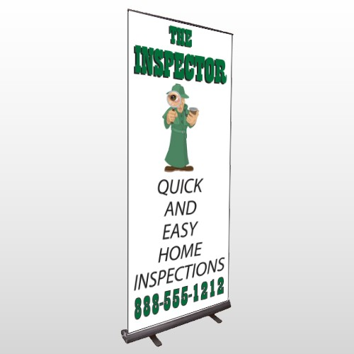 Home Inspection 361 Retractable Banner Stand