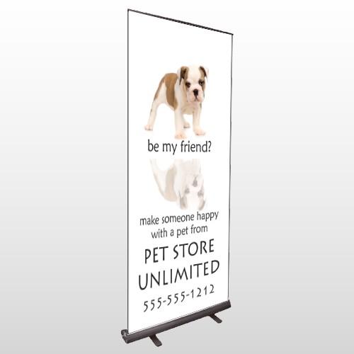 Petstore 26 Retractable Banner Stand