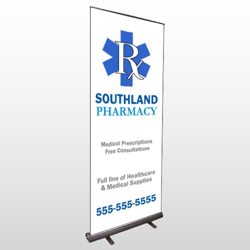 Pharmacy 103 Retractable Banner Stand