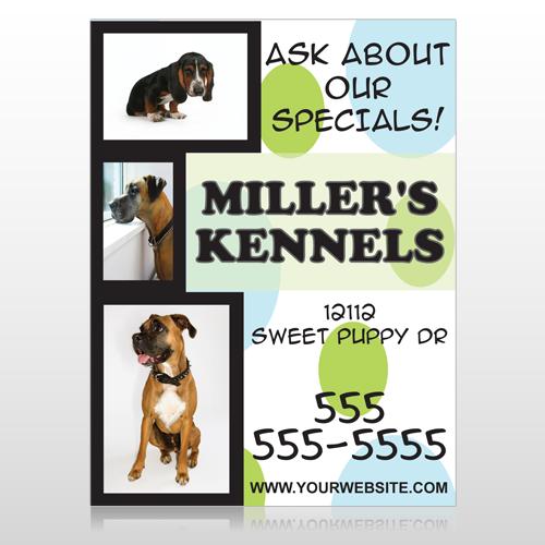 Dog Kennels 300 Custom Sign