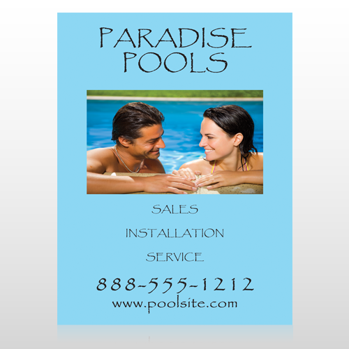 Paradise Pool 529 Sign