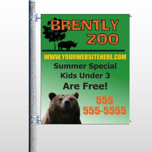 Bear Zoo 302 Pole Banner