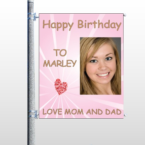 Happy Birthday Marley 10 Pole Banner