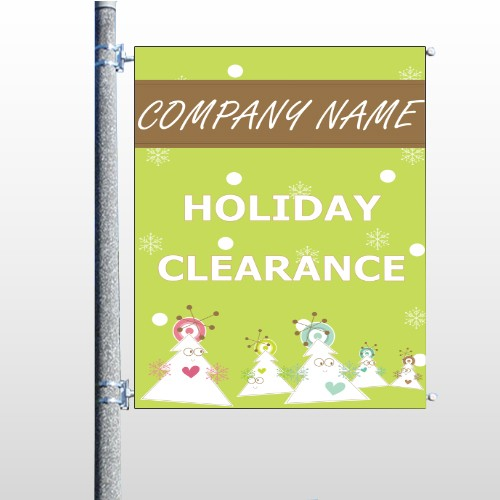 Holiday Clearance 13 Pole Banner