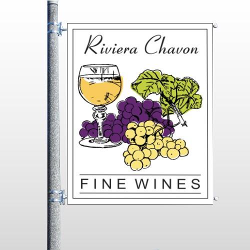 Wine 145 Pole Banner