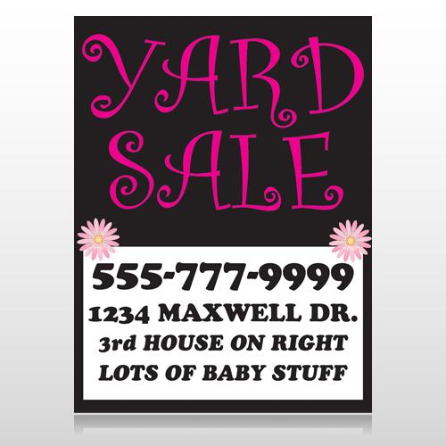 Pink Yard Sale 550 Custom Decal