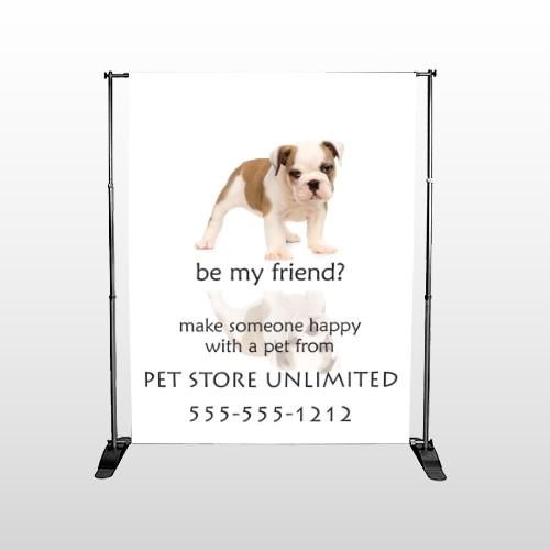 Petstore 26 Pocket Banner Stand