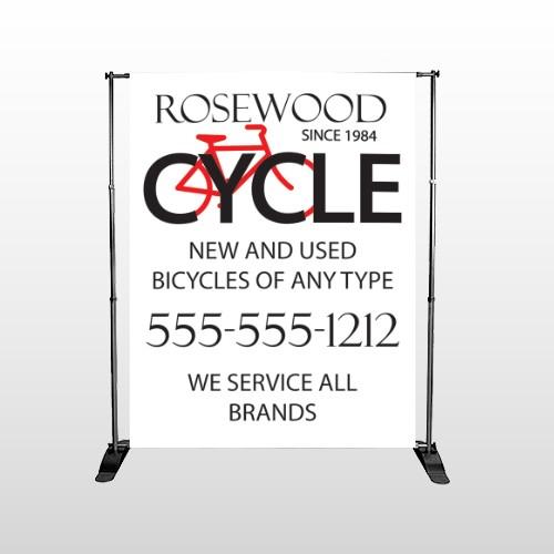Bike Shop 33 Pocket Banner Stand