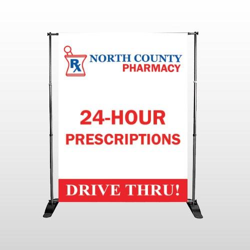 Pharmacy 333 Pocket Banner Stand