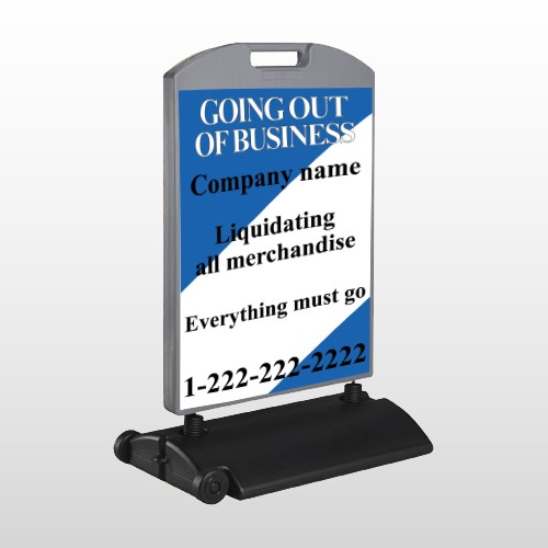 Going Out Sale 11 Wind Frame Sign