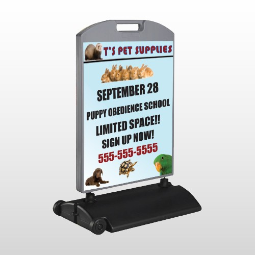 Pet Supplies 305 Wind Frame Sign