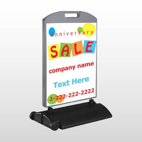 Square Circle Sale 15 Wind Frame Sign