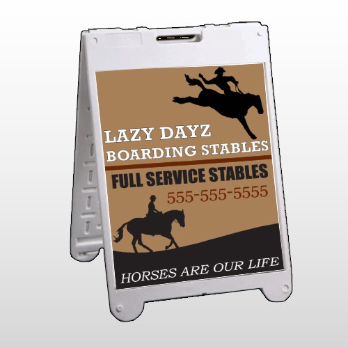 Boarding Stables 304 A Frame Sign