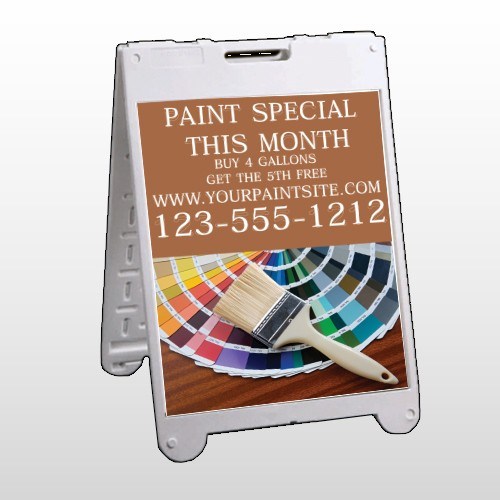 Paint Brushes 256 A-Frame Sign