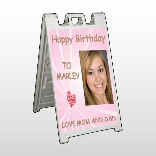 Happy B-Day Marley 10 A Frame Sign