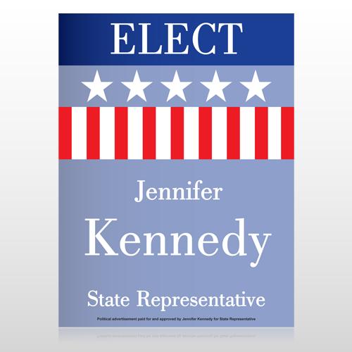 State Representative Stars 276 Custom Sign