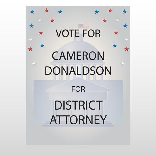 Vote Court Attorney 268 Custom Sign
