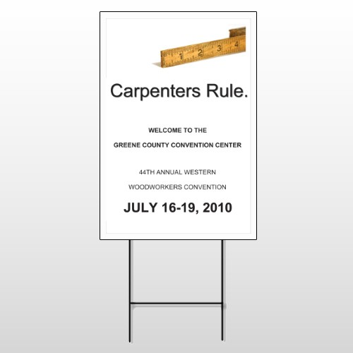 Convention 239 Wire Frame Sign