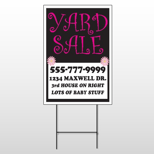 Pink Girl Sale 552 Wire Frame Sign