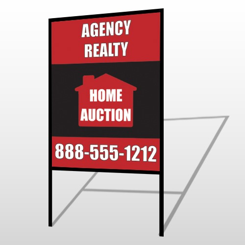 Red House Auction 252 H-Frame Sign