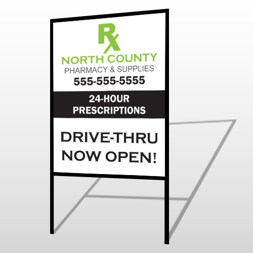 RX  North County 105 H-Frame Sign