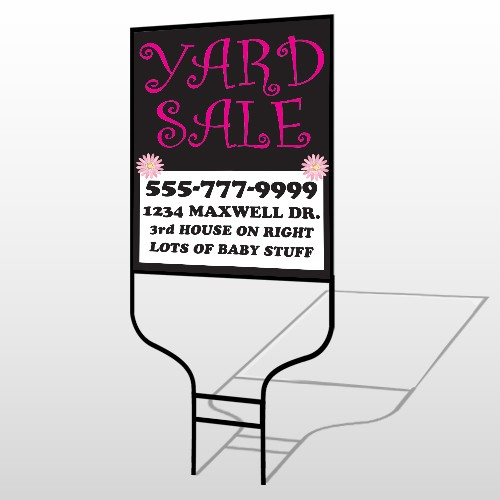 Pink Girl Sale 552 Round Rod Sign