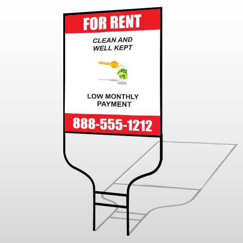 Rent Key Chain 361 Round Rod Sign