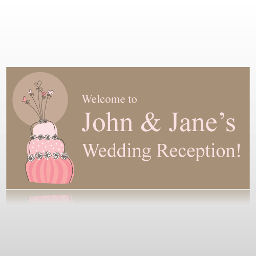 Wedding Reception Banner