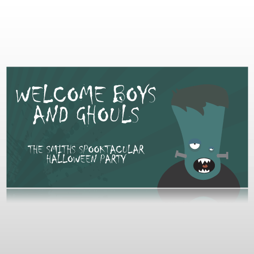 Welcome Boys & Ghouls Halloween Banner