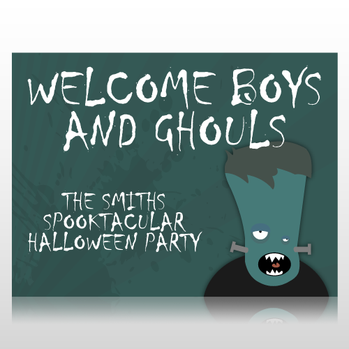 Welcome Boys & Ghouls Halloween Sign Panel