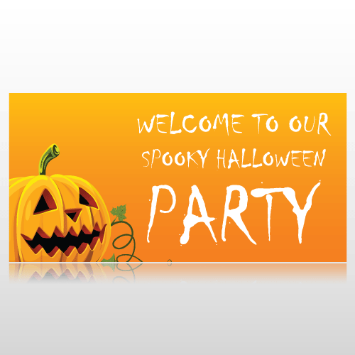 Welcome To Our Spooky Halloween Party Banner