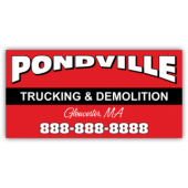 Pondville Trucking & Demolition Magnetic Sign - Magnetic Sign