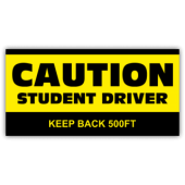 Caution Student Driver Magnetic Sign - Magnetic Sign
