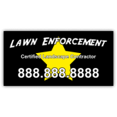 Lawn Enforcement Landscaping Company Magnetic Sign - Magnetic Sign