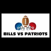 Bills Vs Patriots Football Banner
