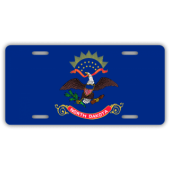 North Dakota State Flag License Plate