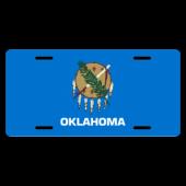 Oklahoma State Flag License Plate