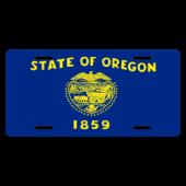 Oregon State Flag License Plate