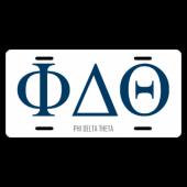 Phi Delta Theta License Plate