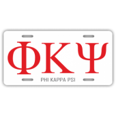 Phi Kappa Psi License Plate