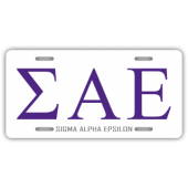 Sigma Alpha Epsilon License Plate