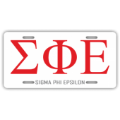 Sigma Phi Epsilon License Plate